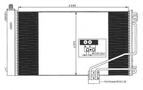 35535 Конденсер MB W203 C 180-320 00-