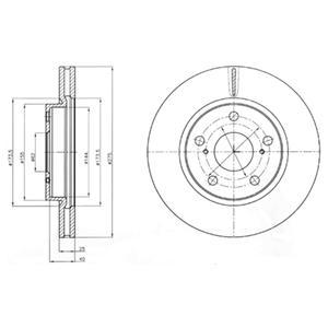 BG4304 Диск торм. Fr TO RAV4 III 09-