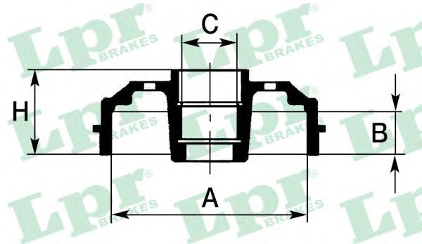 7D0644C Барабан тормозной FORD FIESTA 01-/FUSION 02- (с подшипником)