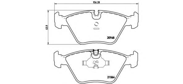 P06012 Колодки тормозные BMW E36 M3/E34/E32/Z3 E36 передние