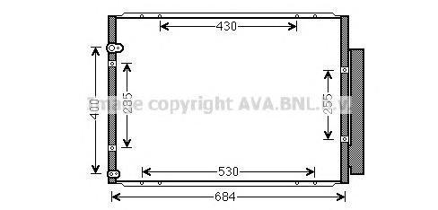 TO5574 Конденсер LEXUS RX400H 3.3 04-08
