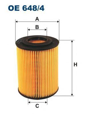 OE6484 Фильтр масляный OPEL ASTRA G/H/CORSA C/MERIVA 1.7D