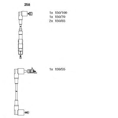 258 Комплект проводов зажигания