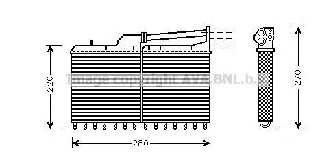 BW6029 Радиатор отопителя BMW: 5 (E34) 518 i/520 i/520 i 24V/524 td/525 i/525 i 24V/525 i X 24V/525 td/525 tds/530 i/530 i V8/53