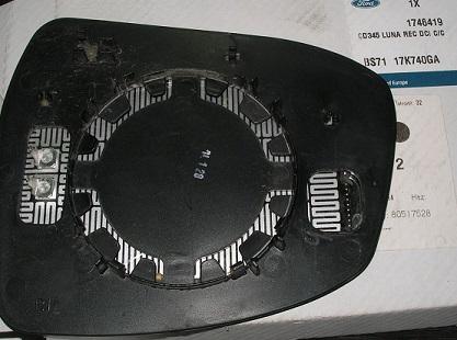 1746419 Зеркальный элемент правый Фокус 3/Мондео 07/Фокус New