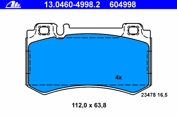 13046049982 Колодки тормозные дисковые задн, MERCEDES-BENZ: CLS CLS 55 AMG 04-10, E-CLASS E 55 AMG Kompressor 02-08, E-CLASS T-M