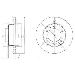 BG4211 Диск тормозной TOYOTA HILUX 06- передний вент.D=297мм.