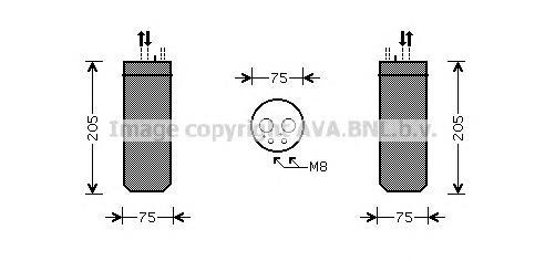 AID209 Осушитель кондиционера VAG A4/SUPERB/PASSAT 1.6-4.0/1.8T/1.9D-2.5D 00-09