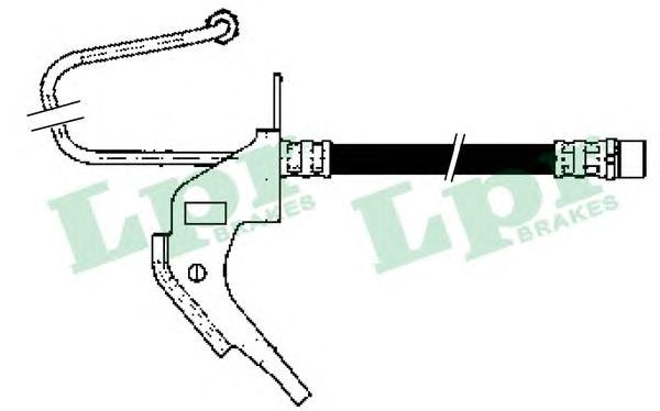 6T47904 Шланг тормозной OPEL ASTRA H 04-/ZAFIRA 05- задний левый
