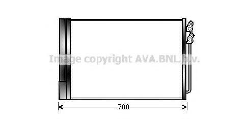 BWA5370 Конденсер BMW F01-F04/F06-F07/F10-F13 2.0-6.0 08-