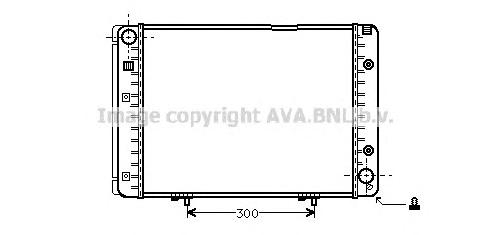 MS2100 Радиатор MB W201 2.3 85-95
