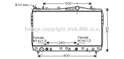 DWA2074 Радиатор CHEVROLET LACETTI 1.4-1.8 A/T 04-