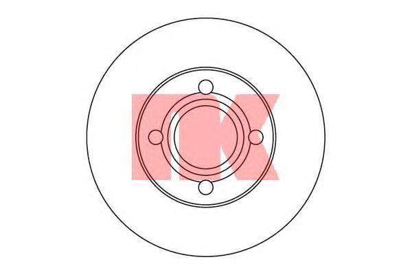 204719 Диск тормозной передний / AUDI 80,90,100 1.8-2.3 (22.0-256) 79~91