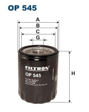 OP545 Фильтр масляный ALFA ROMEO 145/156/FIAT MAREA