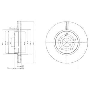 BG4139 Диск тормозной LEXUS IS 2.2-2.5 05- передний вент.D=296мм.