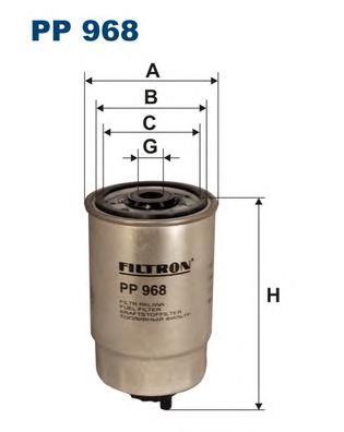 PP968 Фильтp топливный (10130060 290415 000714