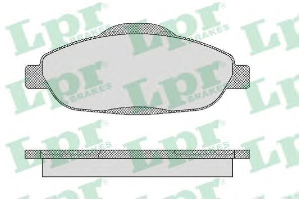 05P1471 Колодки тормозные PEUGEOT 308 07-/3008 09- передние