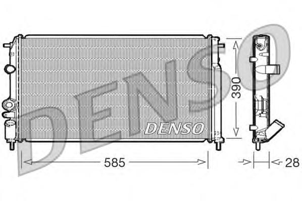 DRM23052 Радиатор системы охлаждения RENAULT: MEGANE I (BA0/1) 1.9 D/1.9 D Eco (B/SA0U, BA0A)/1.9 DCi/1.9 DTi/1.9 TDI/1.9 dCi (B