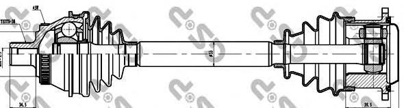 203048 Привод в сборе AUDI A4 I 2.8 96-01 прав. +ABS