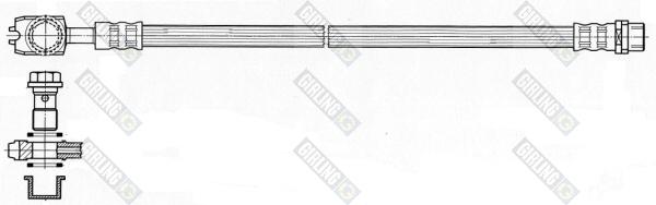 9004484 Шланг тормозной AUDI A4 00- задний