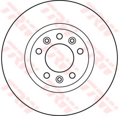 DF6121 Диск тормозной PEUGEOT 407 04-/607 05-/508 10- передний вент.D=283мм.