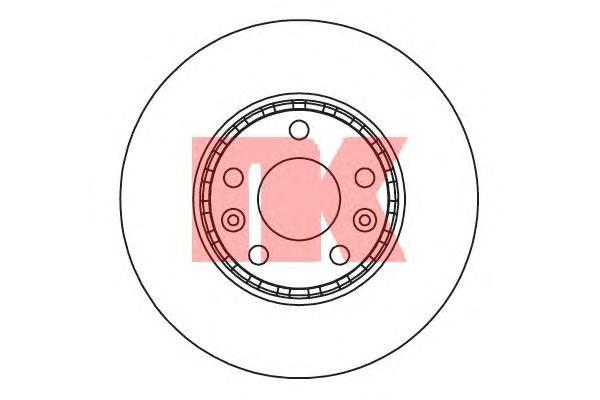 203971 Диск тормозной RENAULT LAGUNA 07-/MEGANE 08-/SCENIC 09- передний вент.D=296мм.