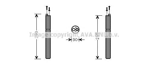 AID298 Осущитель кондиционера AUDI A4 / A5 /Q5 1.8-3.2 TFSI / TDI 07-