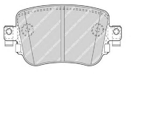 FDB4485 Колодки тормозные SKODA OCTAVIA 12- задние