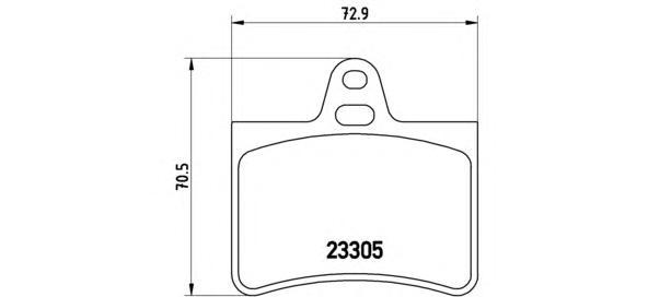 P61073 Колодки тормозные CITROEN C5 01- задние