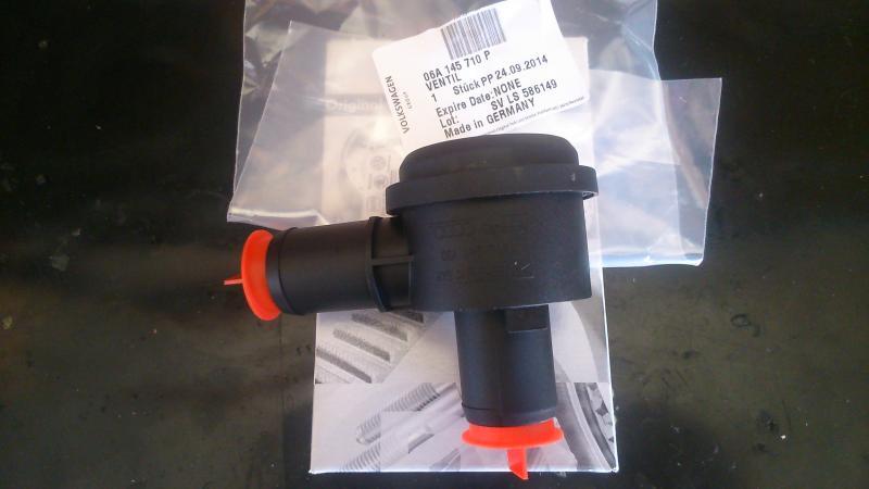 06A145710P Клапан отключения подачи воздуха / AUDI A-4,6,TT; SEAT; Skoda Superb; VW New Beetle, Passat, Polo, Sharan 01~