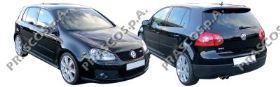 VW0371234 Накладка переднего бампера левая-грунтованная / VW Golf-V GTI 04~