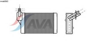 VWA6060 Радиатор отопителя VAG A3 1.6-1.9TDi 96- / GOLF / PASSAT 1.6-2.8 87-01