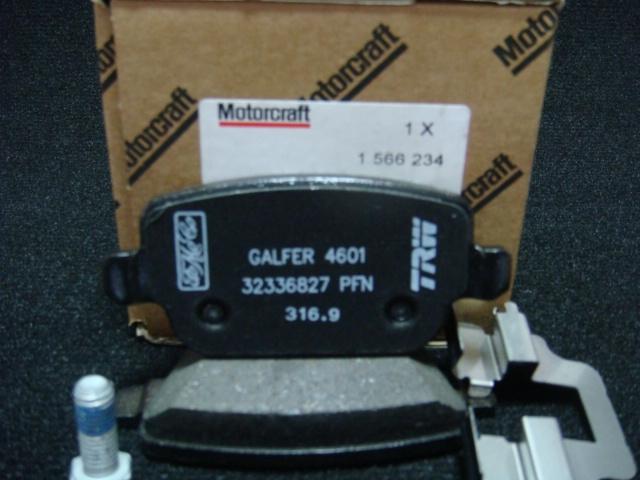 1566234 Колодки тормозные дисковые задние Motorcraft / FORD Galaxy, S-Max, Mondeo-IV ; VOLVO S80 2006 ~