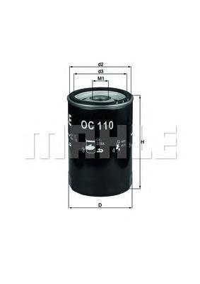 OC110OF Фильтр масляный MB W201/124/126 1.8-3.0 (без упак.)