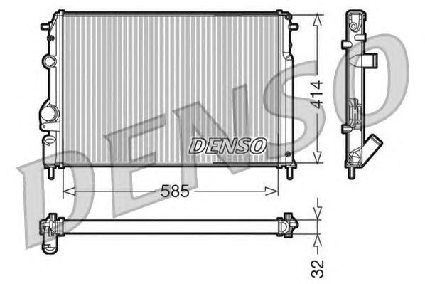 DRM23110 Радиатор системы охлаждения DACIA: LOGAN (LS) 1.5 dCi (LS0J, LS0Y)/1.5 dCi (LS0K) 04 - , LOGAN MCV (KS) 1.5 dCi (KS0K)/
