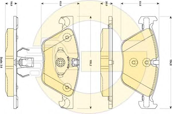 6118822 Колодки тормозные BMW 5 F10/F11 2.0-3.0 10- передние