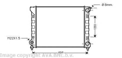 VWA2040 Радиатор VAG G2 / JETTA 1.5/1.6 83-93