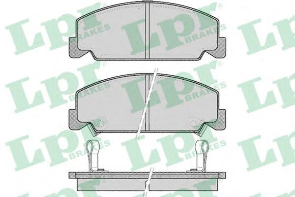 05P083 Колодки тормозные HONDA ACCORD 1.6/1.8 83-85/CIVIC 1.4-1.6 88-95 передние