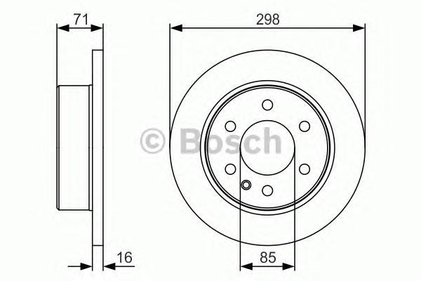 0986479S05 Диск тормозной MERCEDES SPRINTER/VW CRAFTER 06- задний D=298мм