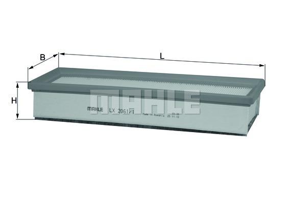 LX20611 Фильтр воздушный RENAULT LOGAN Н/О 12-