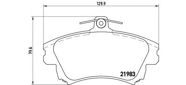P86017 Колодки тормозные MITSUBISHI CARISMA 95-06/COLT 04-/VOLVO S40/V40 -04 передние