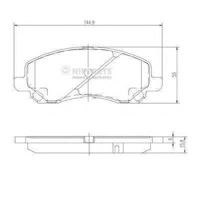 J3605046 Колодки тормозные MITSUBISHI ASX/LANCER/OUTLANDER/DODGE CALIBER передние