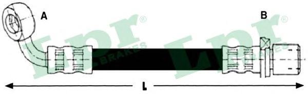 6T48257 Шланг тормозной TOYOTA LAND CRUISER (J100) 98-/(J90) 96- задний левый
