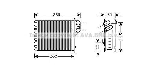 RT6398 Радиатор отопителя RENAULT LOGAN/DUSTER/SANDERO 1.2-2.0/1.5D 04-