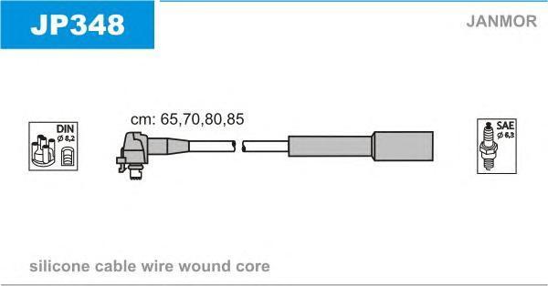 JP348 Комплект проводов зажигания MAZDA: 121 III 96-