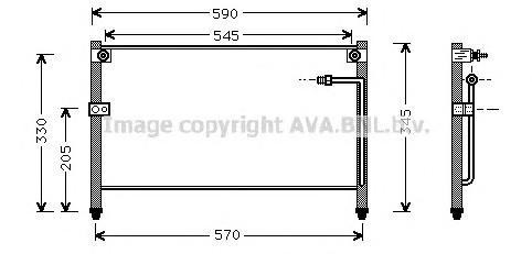 MZ5112 Конденсер MAZDA 626 IV/XEDOS 6 1.6/1.8/2.0/2.5 92-98