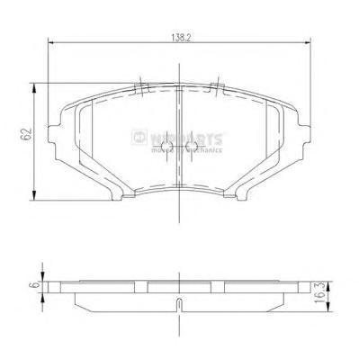 J3603066 Колодки торм. MAZDA RX 8 1.3T 03- пер.
