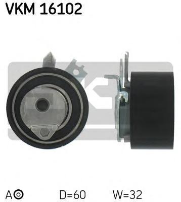 VKM16102 Ролик натяжной ремня ГРМ Renault Megan II/Scenic II 1.5dCi 02