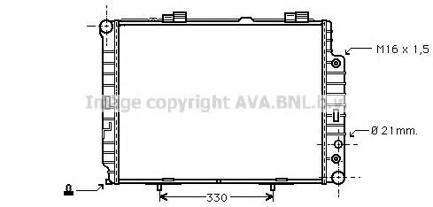 MSA2283 Радиатор MB W210 2.0/2.2D 97-03