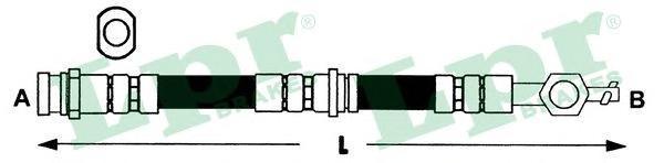 6T46281 Шланг тормозной MAZDA 626 82-97 передний